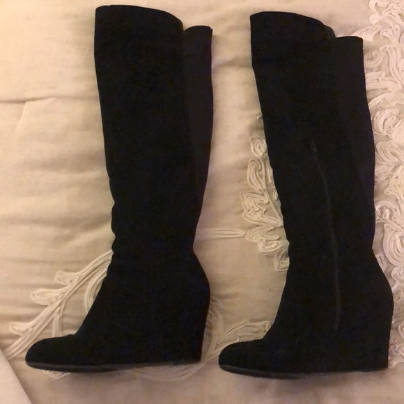 47054e7b8dc76 Chinese Laundry Shoes | Over The Knee Black Boots | Poshmark